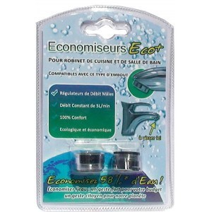 2 aerateur regulateur male sous blister - 5 L par mn